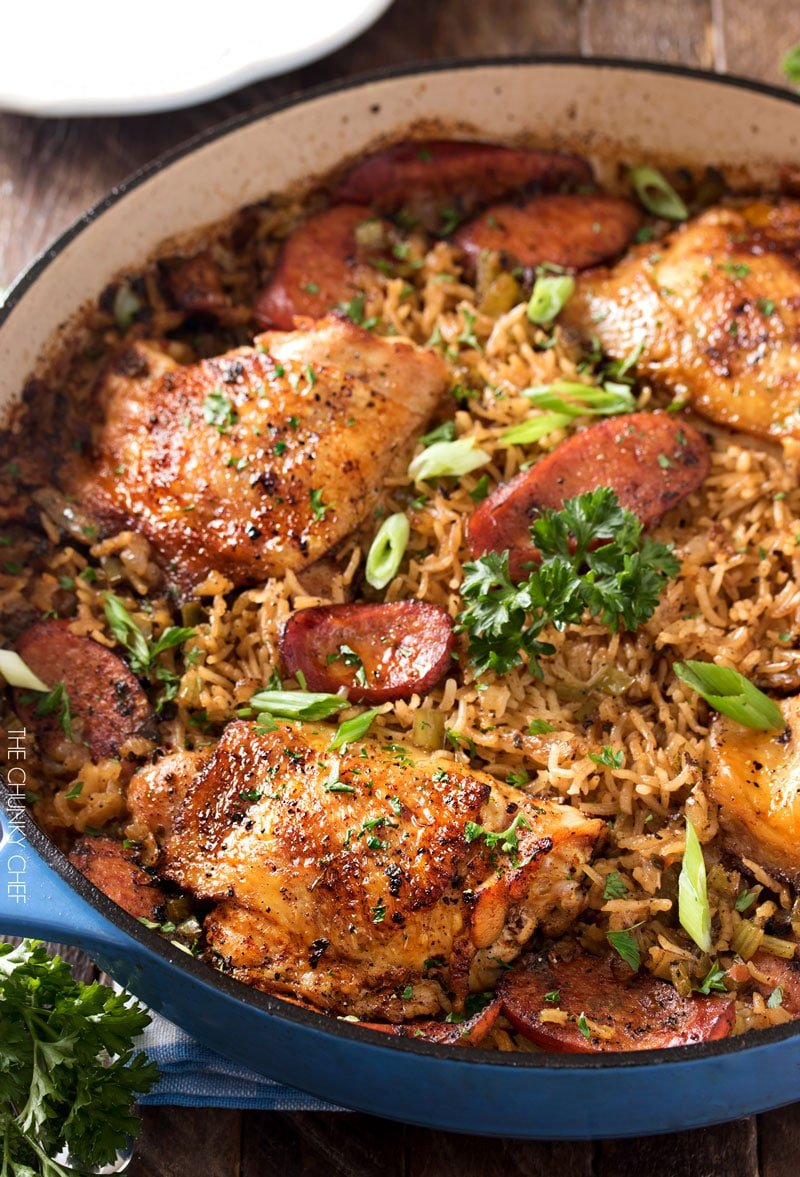 Juicy chicken in the oven with rice
