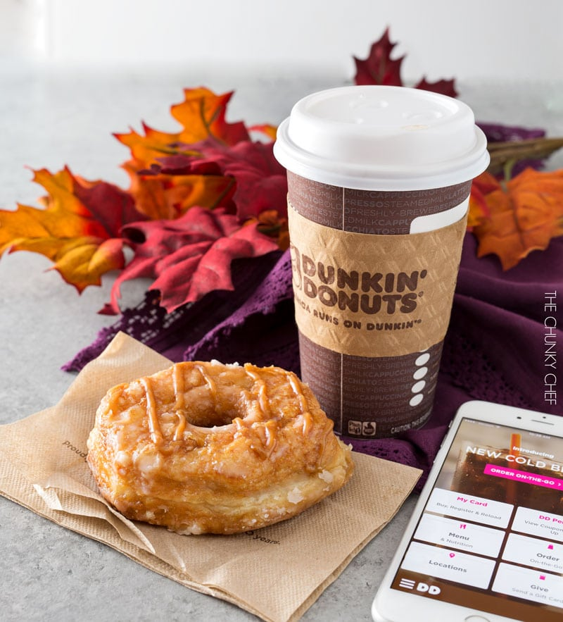 Favorite Fall Donut | Embrace the Fall flavors with this caramel apple croissant donut from Dunkin' Donuts! | http://thechunkychef.com