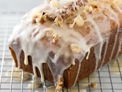 Honey Glazed Pumpkin Banana Bread
