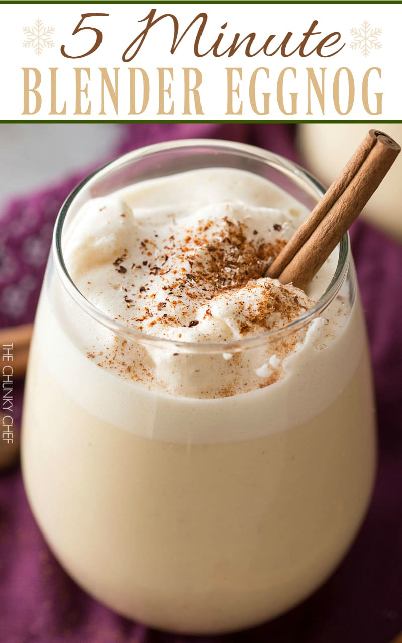 5 minute homemade blender eggnog the chunky chef 5 minute blender eggnog homemade eggnog made in your blender in just 5 minutes forumfinder Image collections