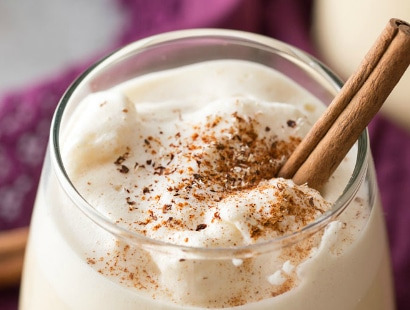 5 Minute Homemade Blender Eggnog
