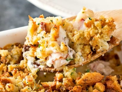 Chicken Cordon Bleu Stuffing Casserole