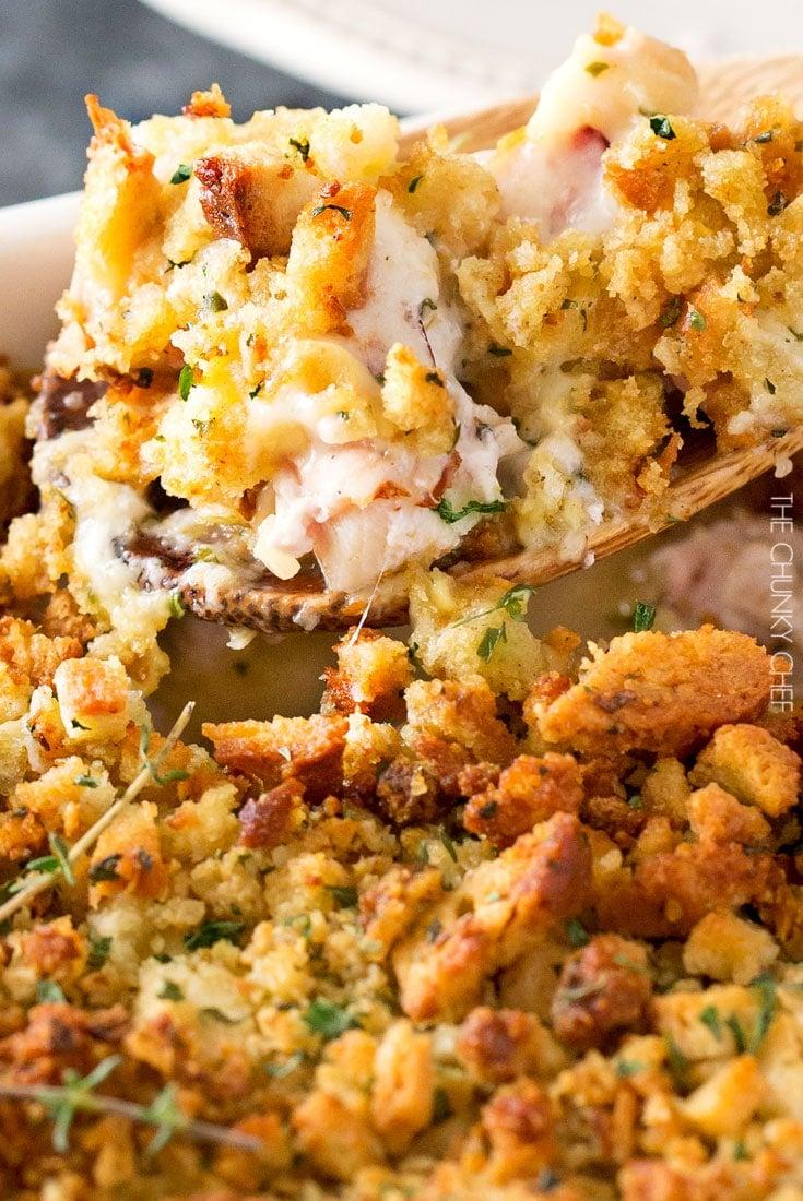 Chicken Cordon Bleu Stuffing Casserole - The Chunky Chef