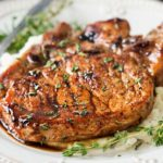 Maple Balsamic Glazed Pork Chops