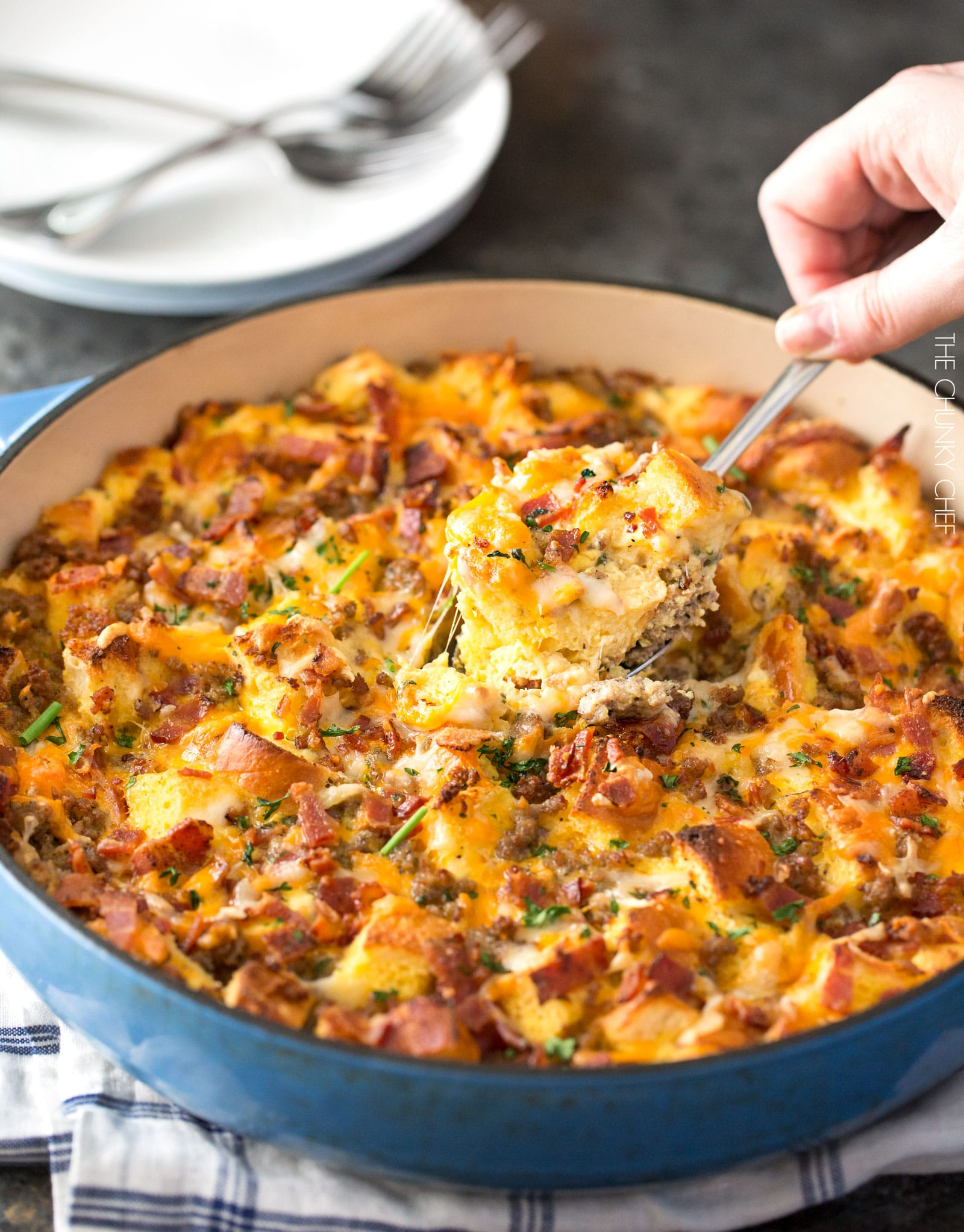 i consider this recipe to be more of a method and not necessarily a hard fast recipe meaning you can add or subtract ingredients to customize it to - Strata Egg Dish