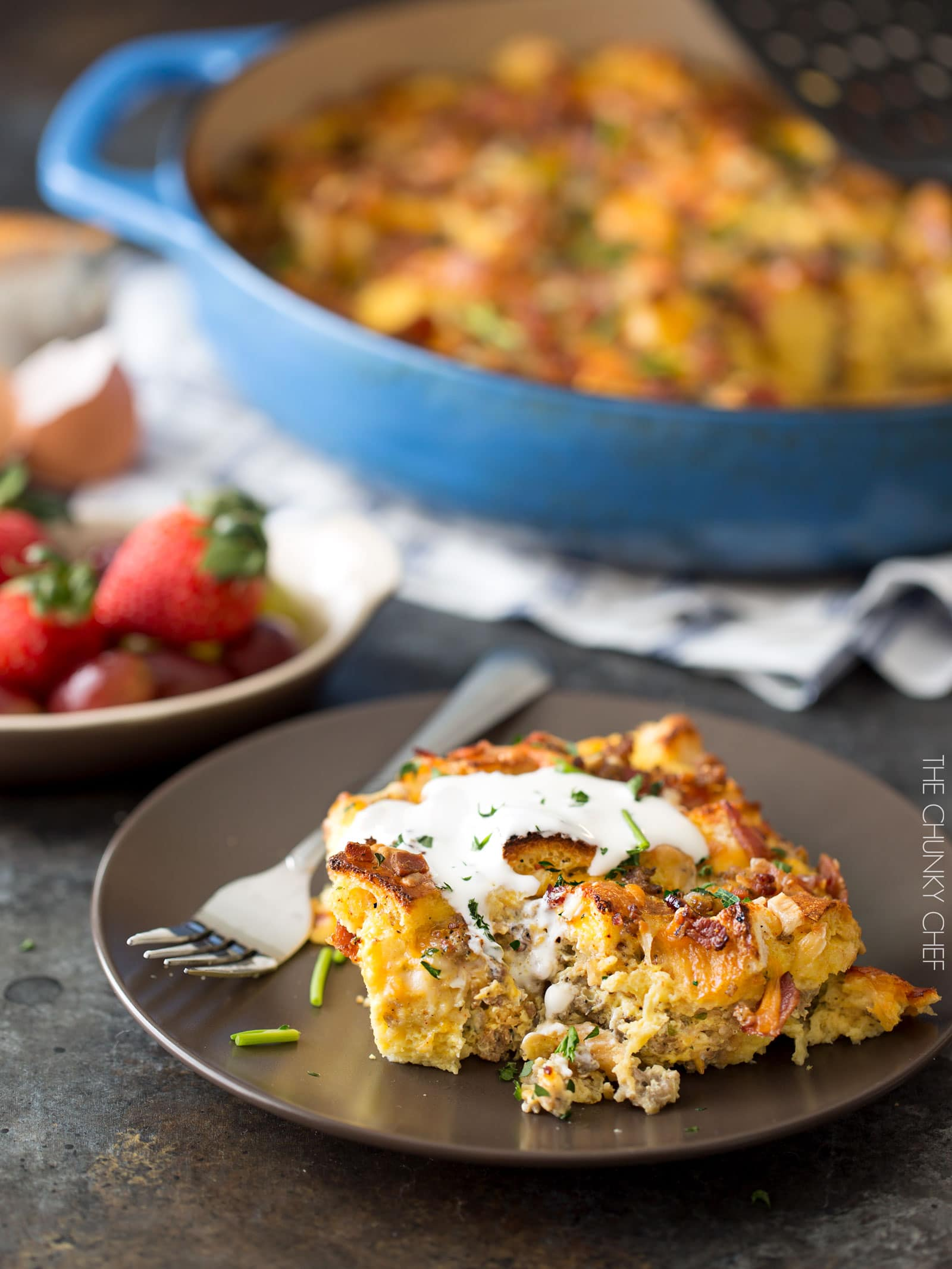 Overnight Breakfast Strata This Dish Is Made The Night Before Refrigerated