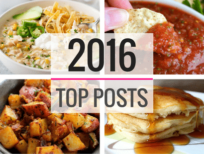 Top 10 Posts of 2016 | A collection of the 10 most popular posts in 2016. Guaranteed to make your mouth water! | http://thechunkychef.com