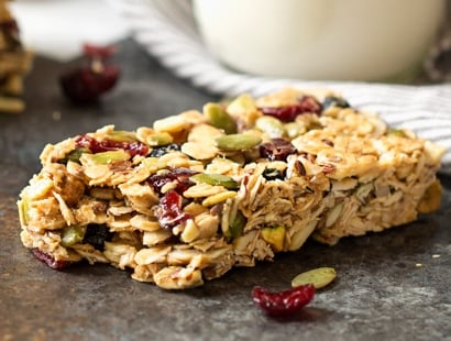 No Bake Chewy Trail Mix Granola Bars