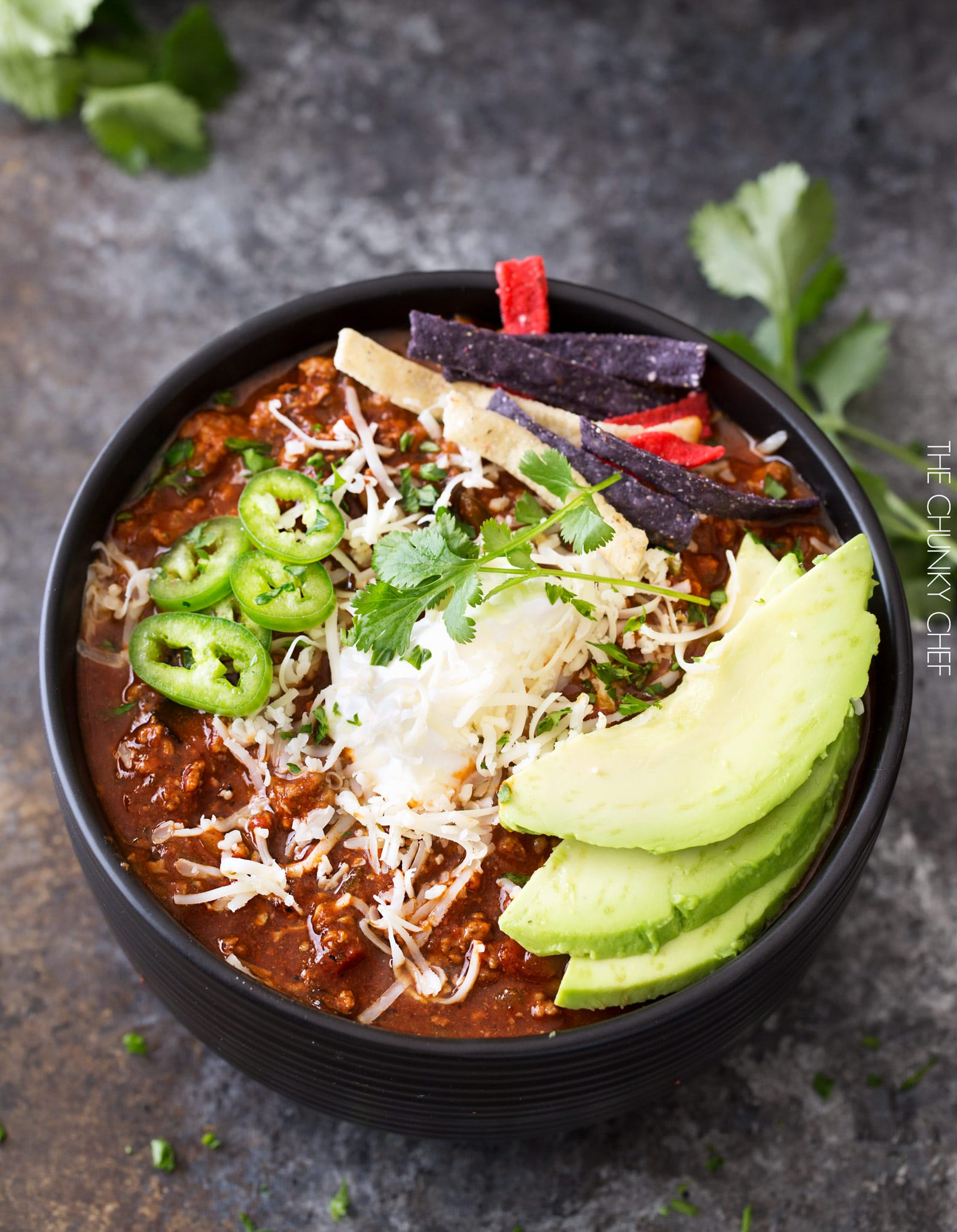 Smoky Beef and Poblano Chili | A hearty beef and poblano pepper chili ...