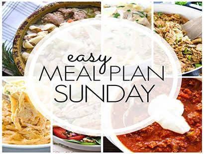 Easy Meal Plan Sunday (week 82)