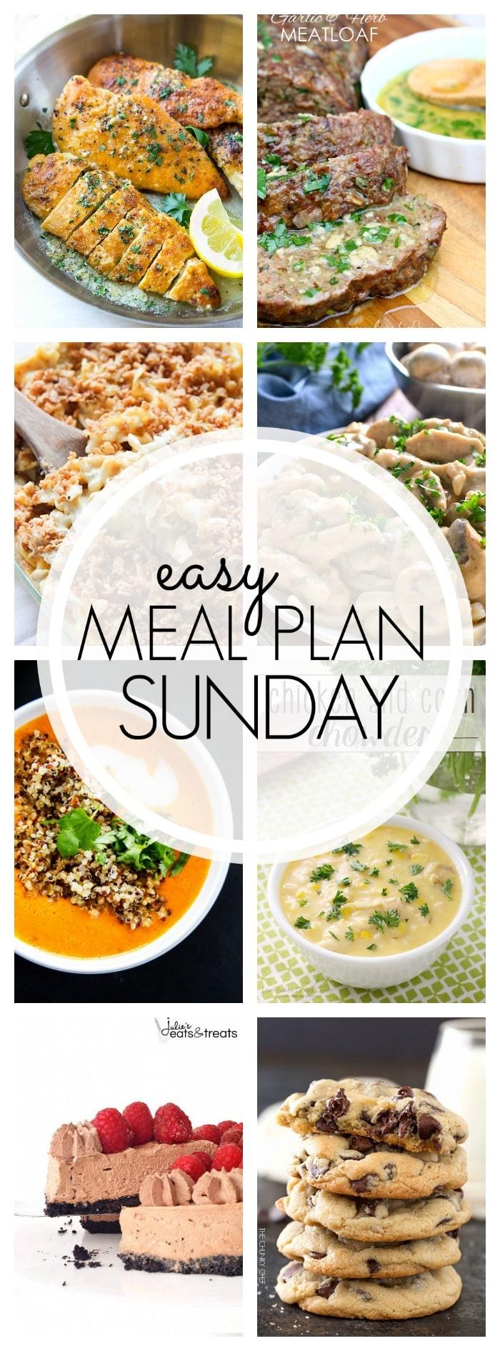 Easy Meal Plan Sunday - Week 83