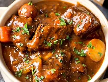 Guinness and Coffee Irish Beef Stew