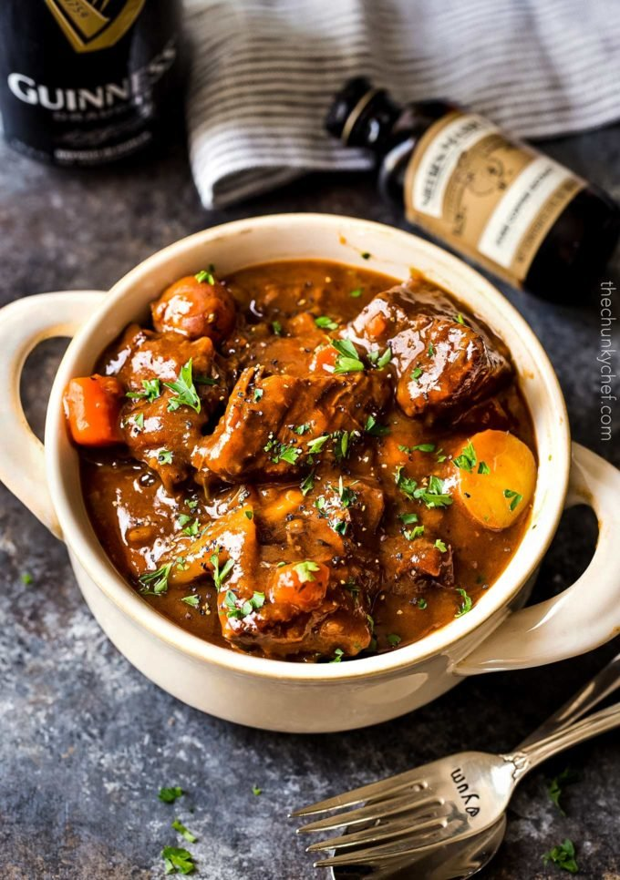 Guinness Beef Stew Irish Stew Reicipe The Chunky Chef