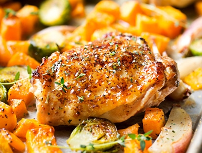 Sheet Pan Maple Mustard Roasted Chicken The Chunky Chef