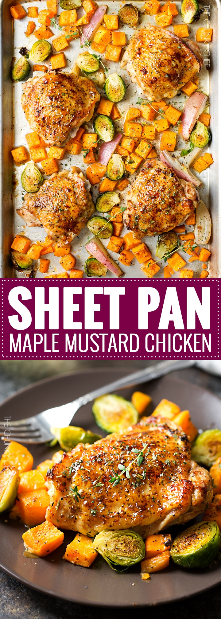 de8e0e551c45 Sheet Pan Maple Mustard Roasted Chicken - The Chunky Chef