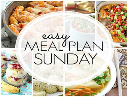 Easy Meal Plan Sunday (week 86)