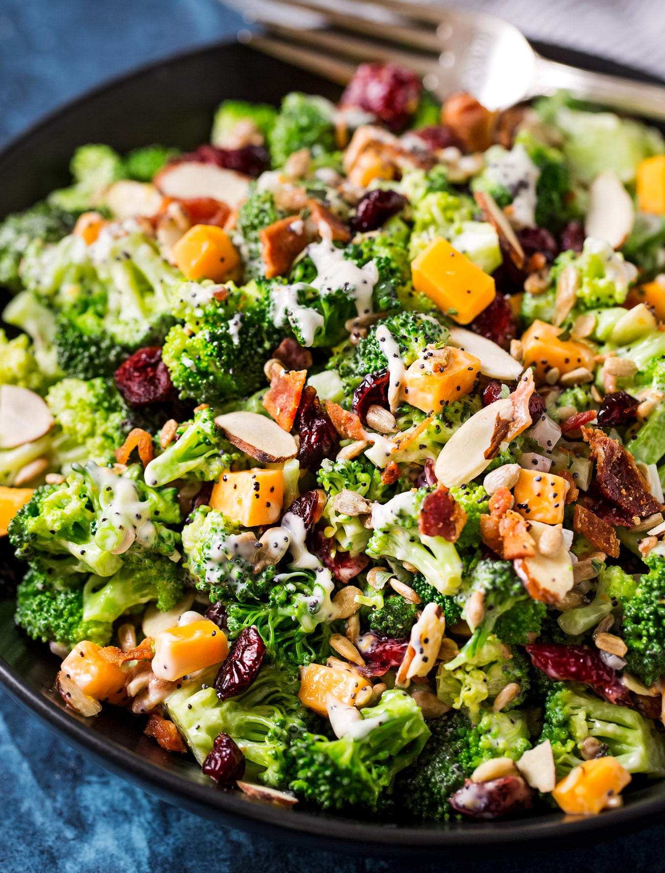 Broccoli Salad Recipe Make Ahead Potluck Side The Chunky Chef