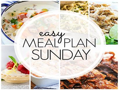 Easy Meal Plan Sunday (week 89)
