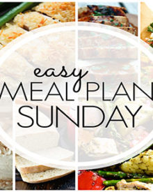 Easy Meal Plan Sunday - Week 92