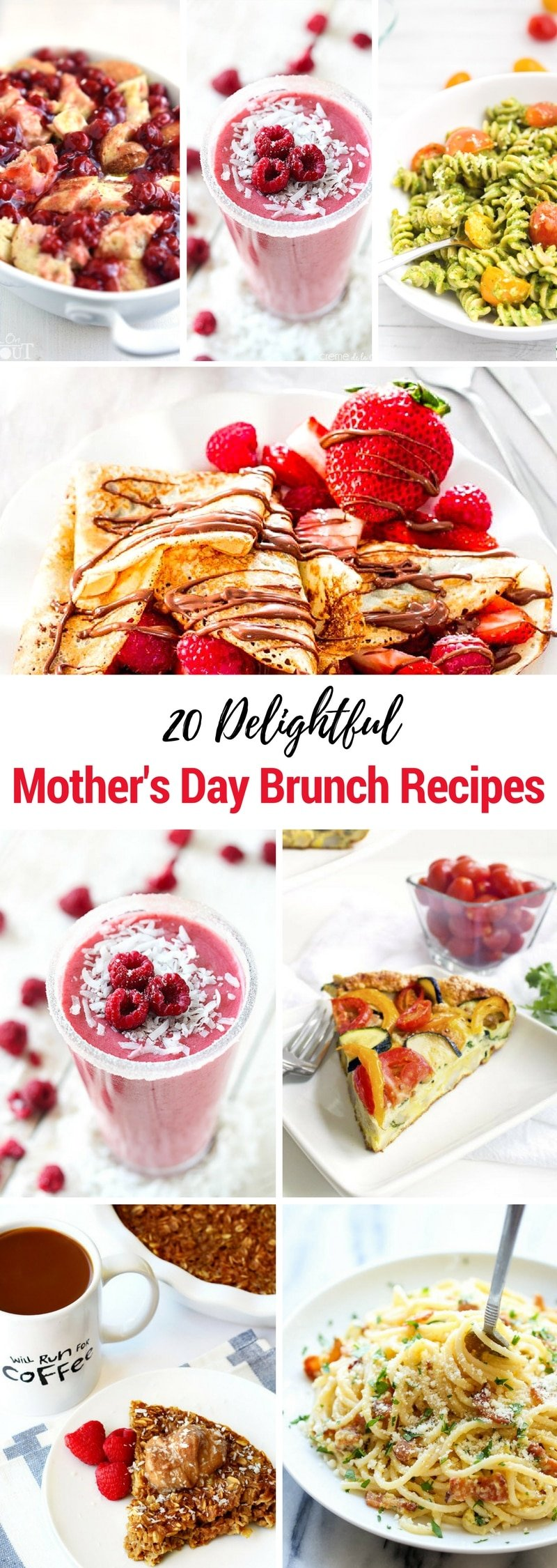 20 Delightful Mother's Day Brunch Recipes | On her special day, Mom deserves a fantastic spread, and why not start things off with a delicious brunch? These brunch recipes are guaranteed to be a hit!