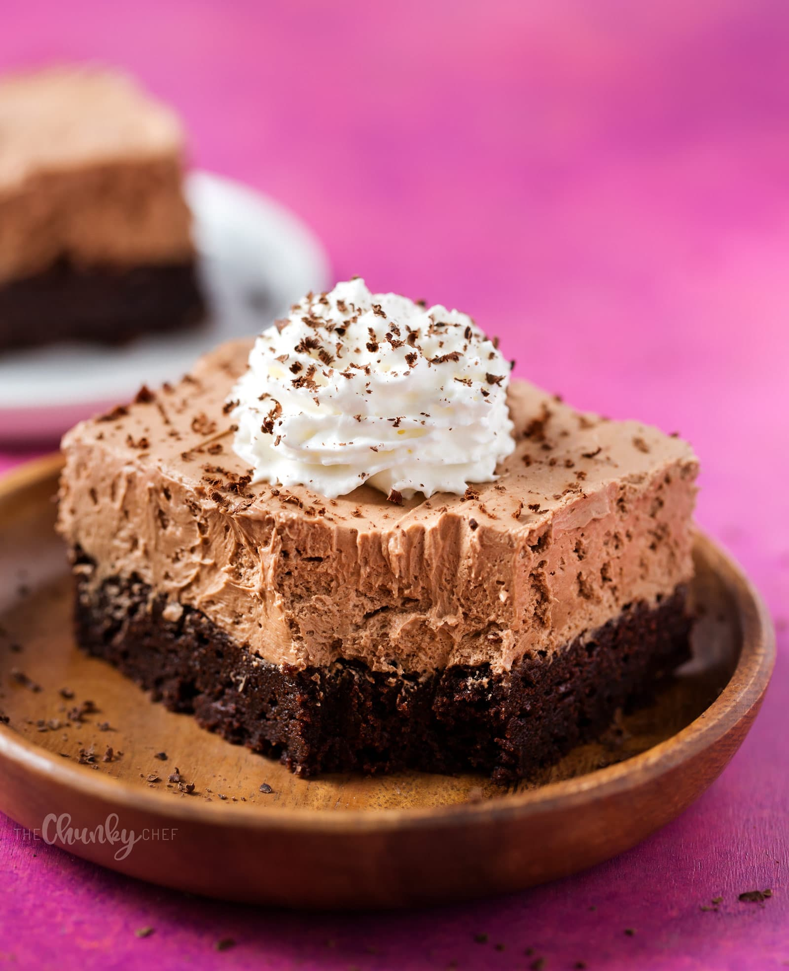 French Silk Pie Brownies - The Chunky Chef