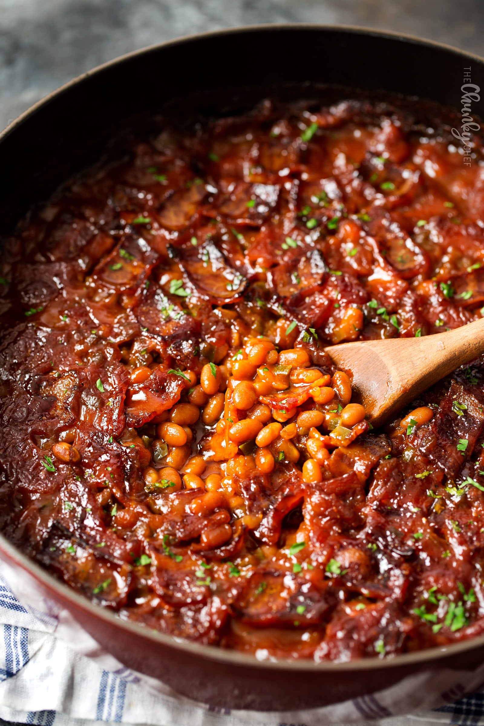 246cd37c4 Spicy Baked Beans with Bacon | Perfect for cookouts or summer BBQ's, these  baked beans