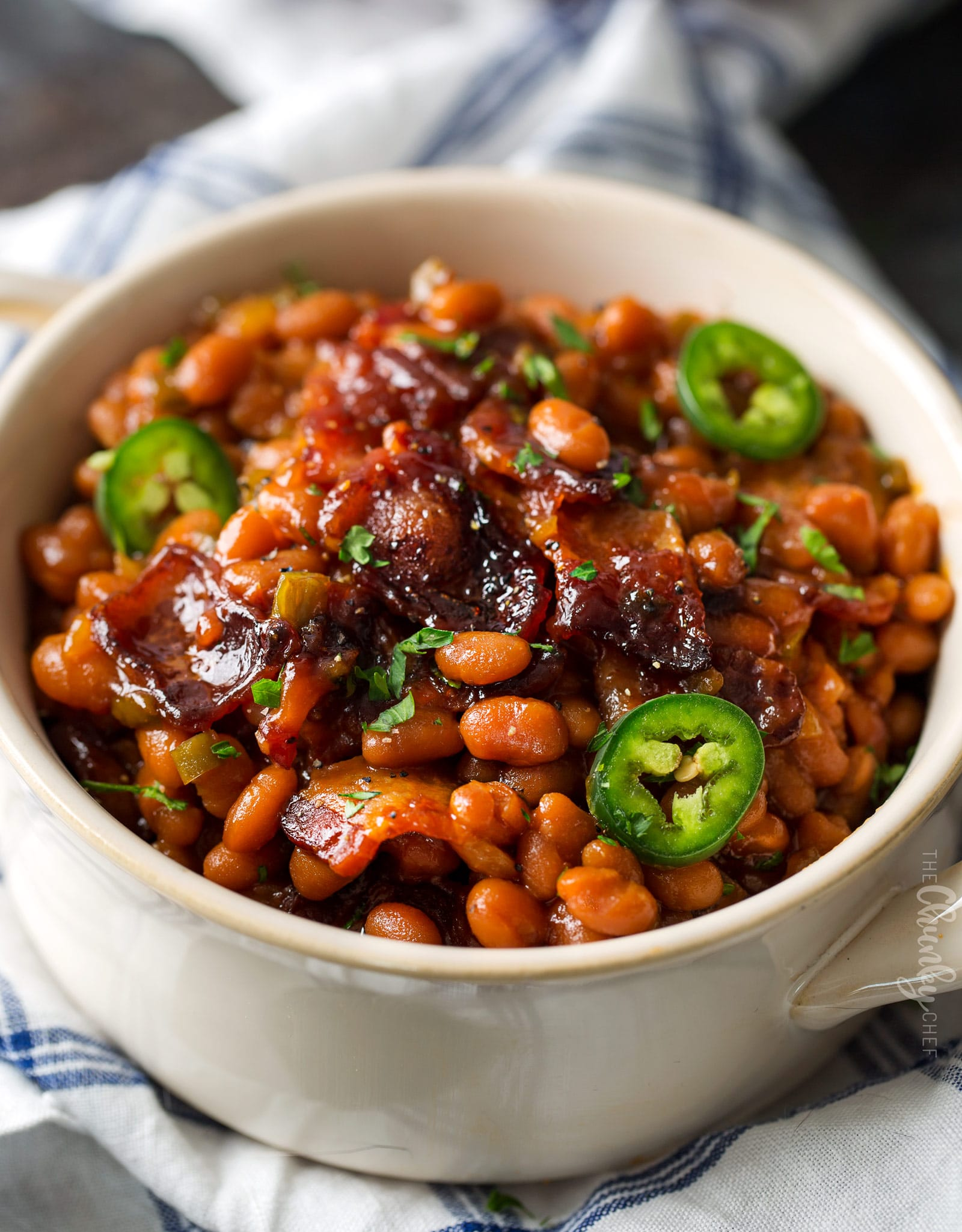 Spicy Baked Beans with Bacon | Perfect for cookouts or summer BBQ's ...