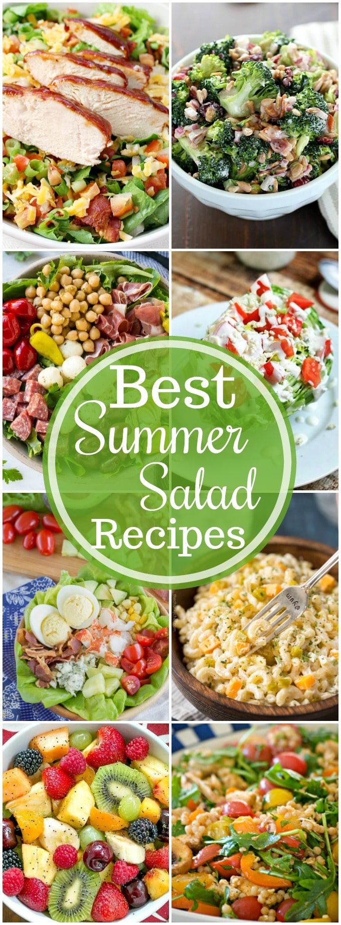 Best Summer Salad Recipes | A fantastic collection of the best summer salad recipes, perfect for a family dinner, summer BBQ or party! Get ready to get your salad on! | http://thechunkychef.com