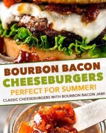 pin image for bourbon bacon cheeseburgers