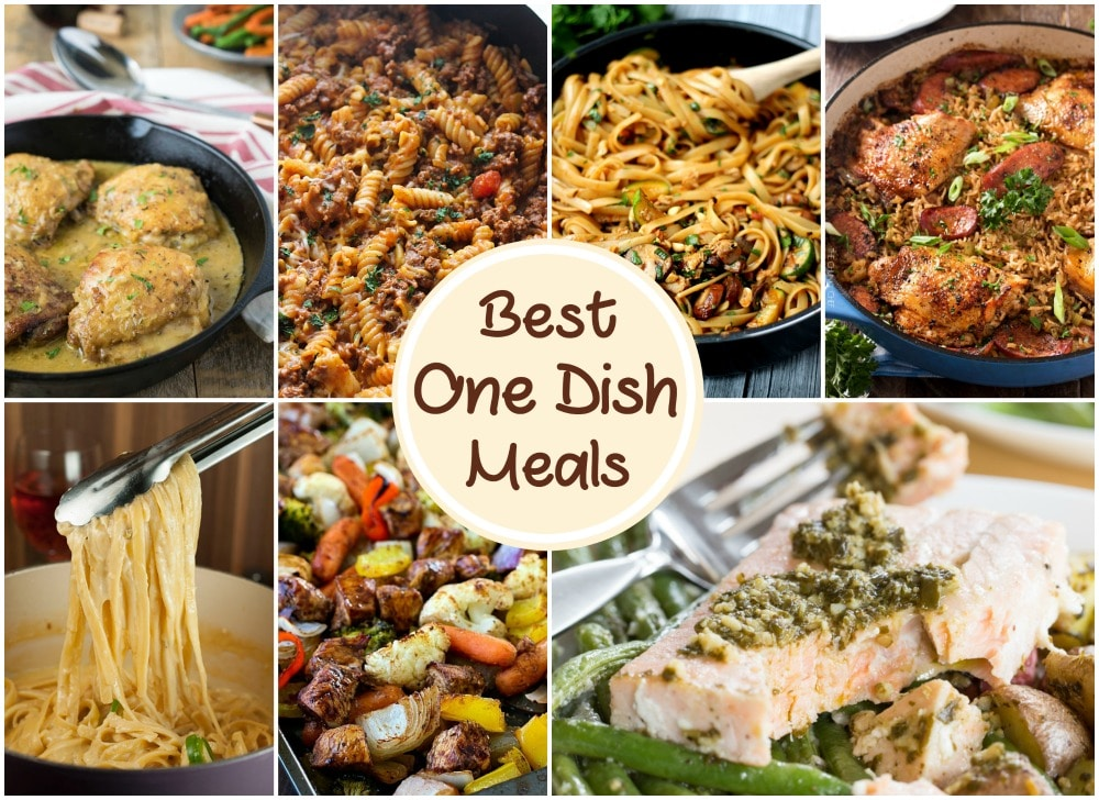 Best One Dish Meals | Uncomplicated and delicious dinner recipes all made in one dish! No more piles of dishes to wash... and perfect for a busy weeknight meal! | https://thechunkychef.com