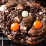 Peanut Butter Candy Double Chocolate Cookies
