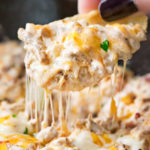 Creamy Skillet Bacon Cheeseburger Dip