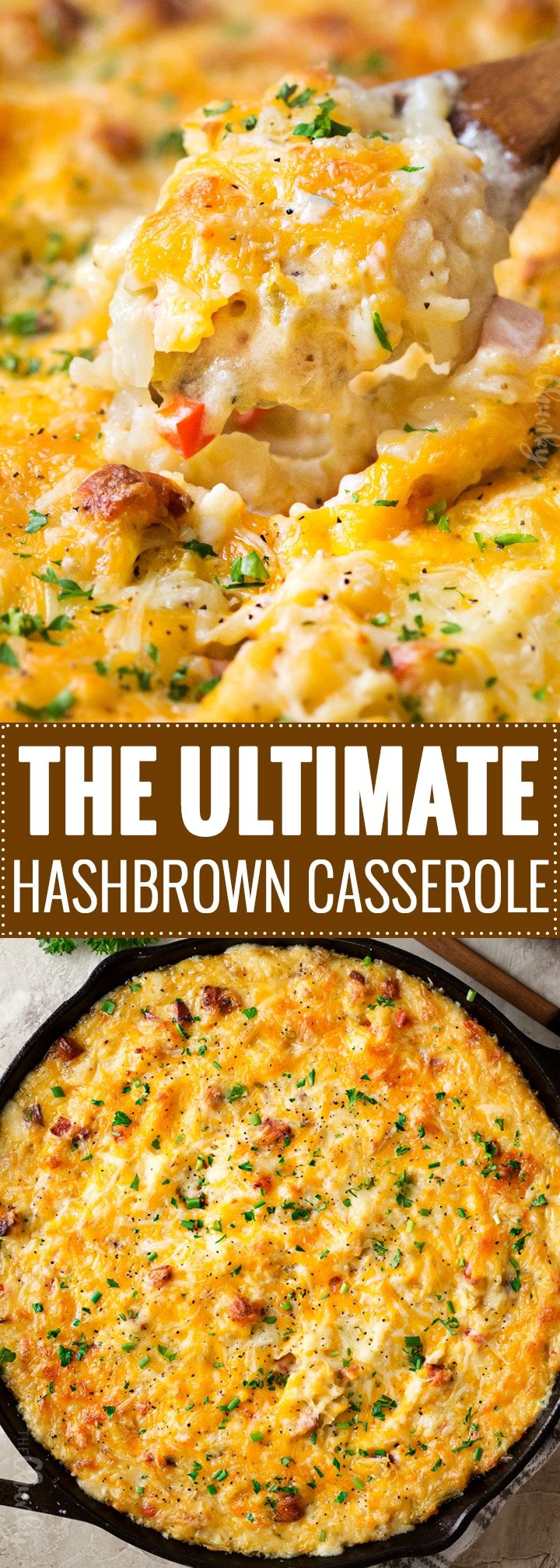 "The Ultimate Hashbrown Casserole | This classic side or potluck dish is made with no ""cream of"" soups, and is perfect for any occasion! 