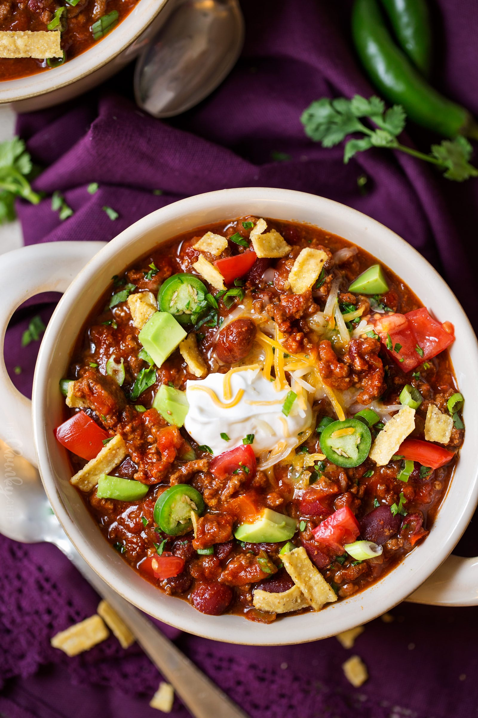 Classic Beef And Bean Slow Cooker Chili The Chunky Chef