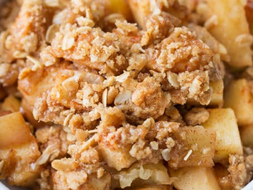 Old Fashioned Easy Apple Crisp The Chunky Chef