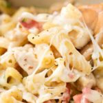 One Pot Creamy Chicken Cordon Bleu Pasta