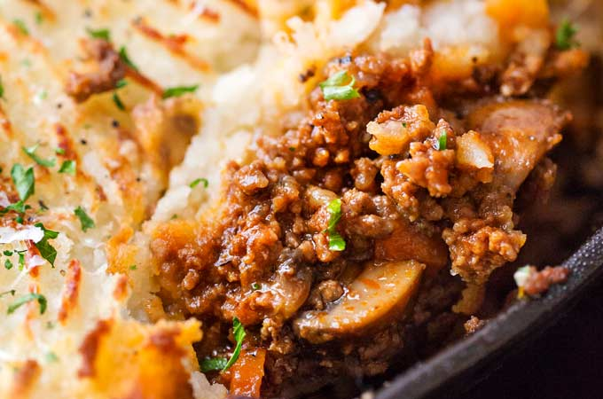 One Skillet Beef Shepherd S Pie Recipe The Chunky Chef