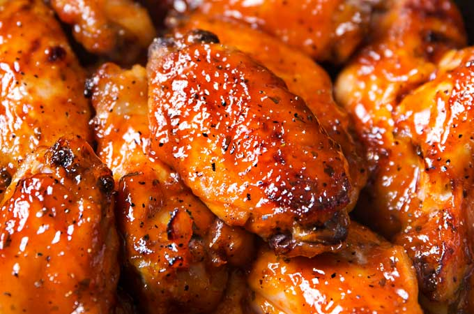 Slow Cooker Honey Buffalo Wings The Chunky Chef
