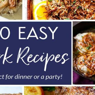 20 Mouthwatering Pork Recipes | A collection of 20 pork recipes that are guaranteed to make your mouth water and tummy grumble! | The Chunky Chef | #porkrecipes #pork #dinnerrecipes #holidaymeals