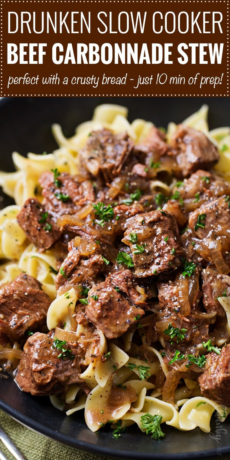 Drunken Slow Cooker Beef Stew Beef Carbonnade The Chunky Chef