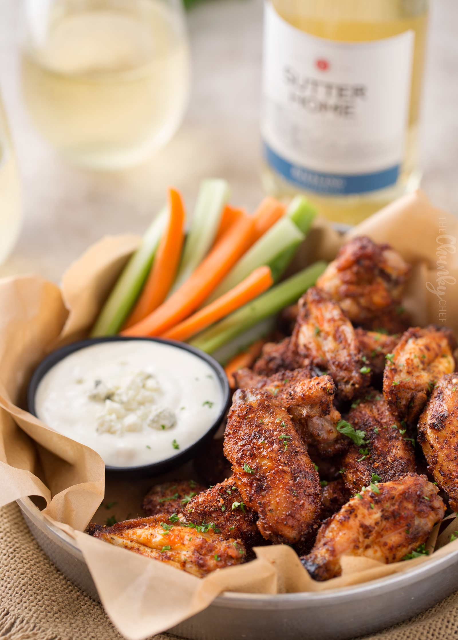 Baked chicken wings with spicy dry rub