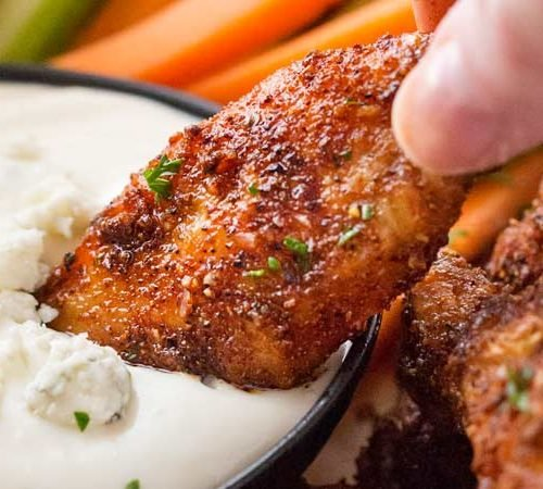 Epic Dry Rubbed Baked Chicken Wings The Chunky Chef