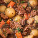 Beer and Horseradish Slow Cooker Beef Stew