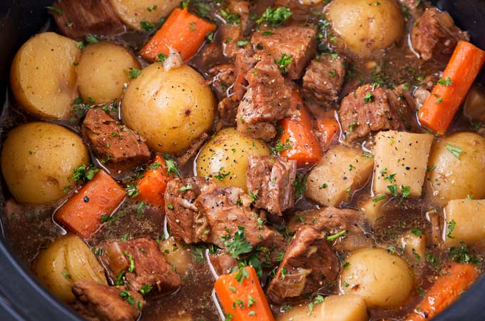 Beer And Horseradish Slow Cooker Beef Stew The Chunky Chef