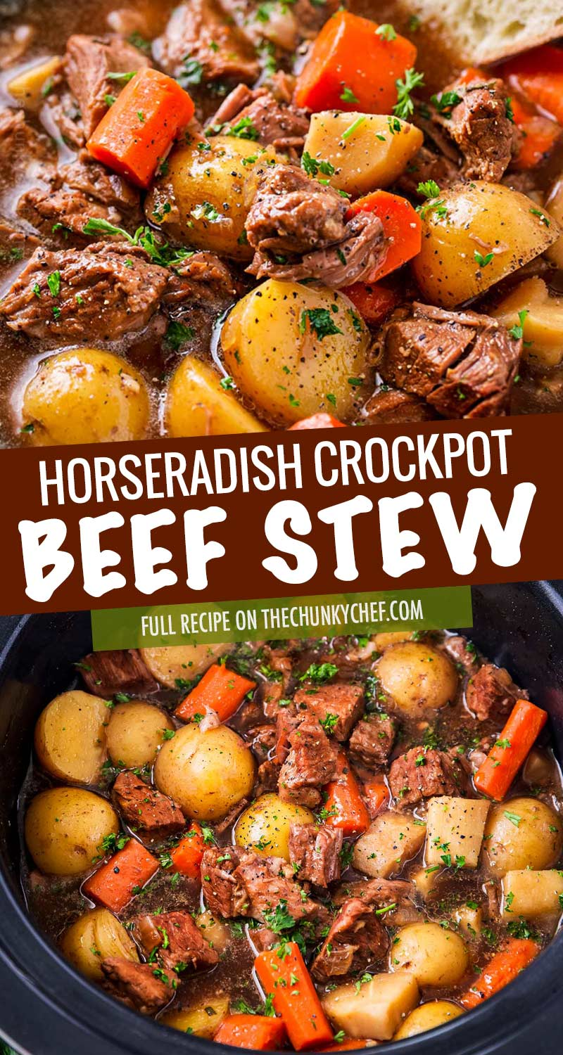 Crockpot Beef Stew With Beer And Horseradish The Chunky Chef