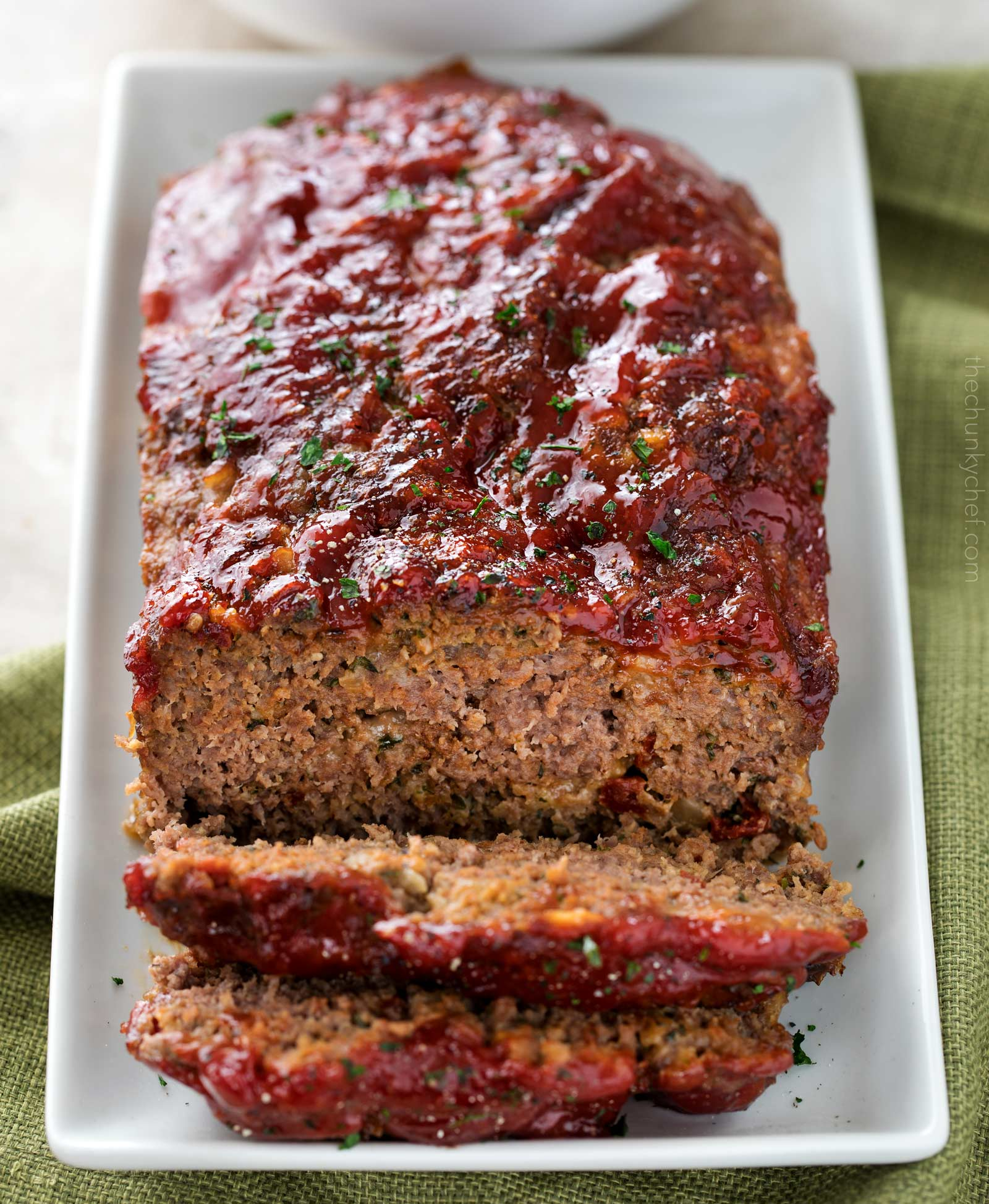 Glazed Chipotle Meatloaf Recipe - The Chunky Chef