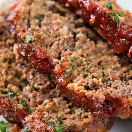 Glazed Chipotle Meatloaf Recipe |Not your average meatloaf recipe, this glazed chipotle meatloaf is packed with bold flavors like chipotle peppers, pepper jack cheese, chili powder and cumin! Slow cooker instructions too! | The Chunky Chef | #meatloaf #beefrecipes #groundbeefrecipes #chipotle #spicy #comfortfood #meatloafrecipe