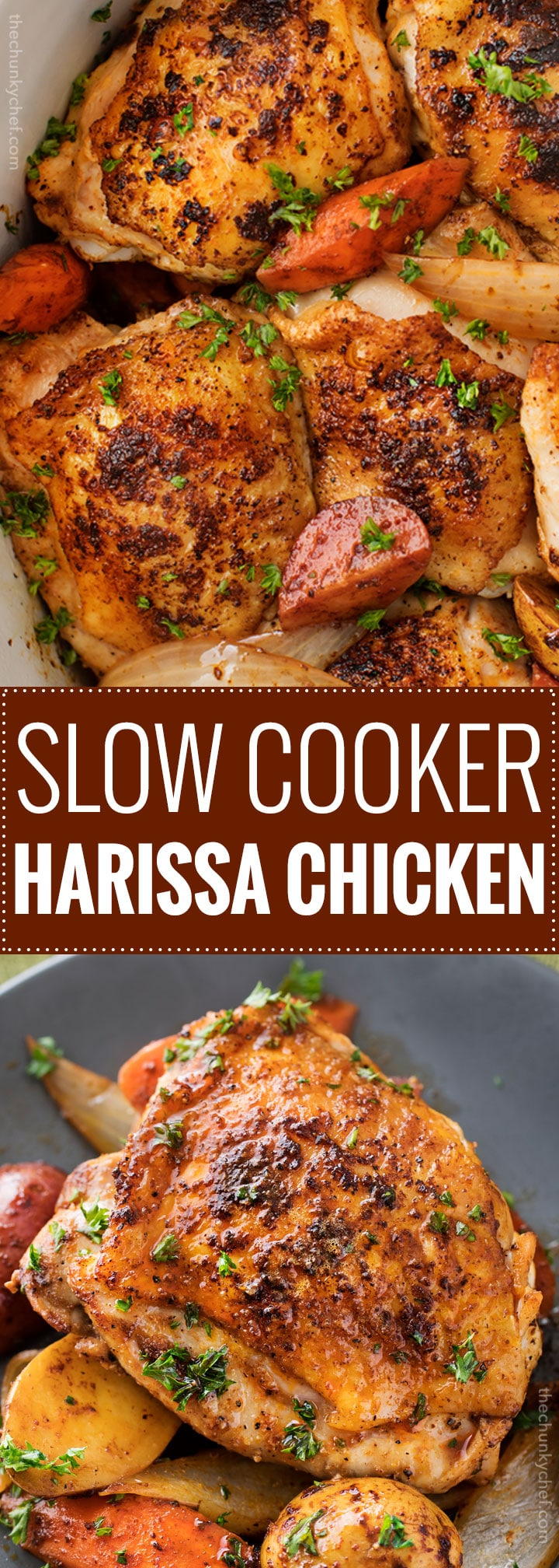 chicken in slow cooker cooker harissa chicken the chunky chef 30398