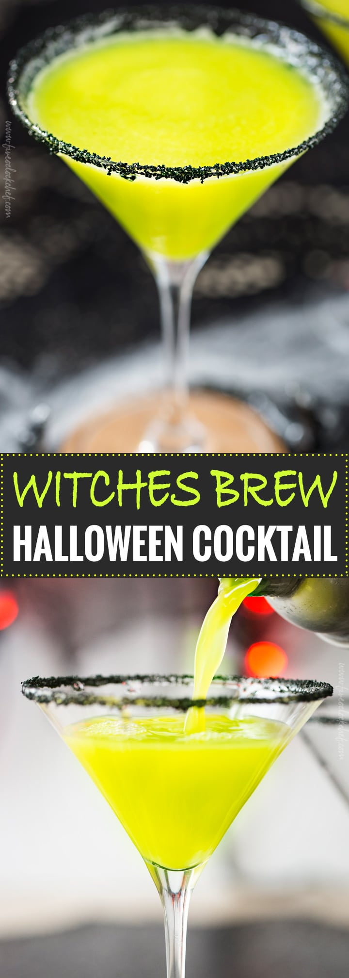 Witches Brew Halloween Cocktail The Chunky Chef