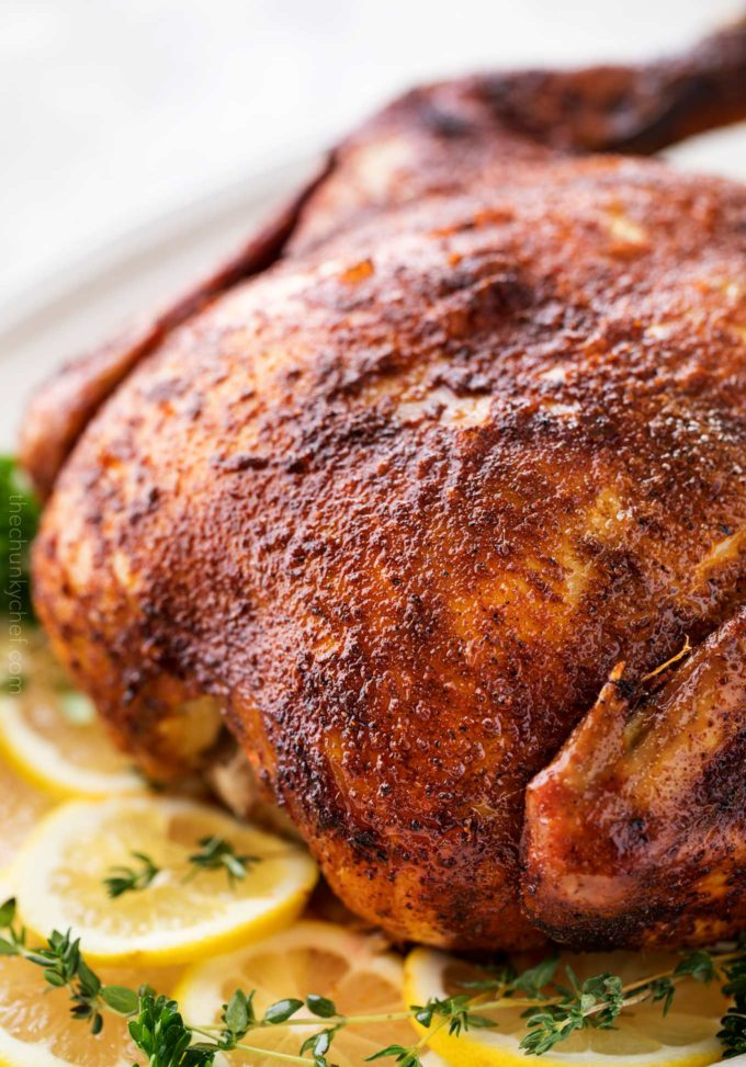 This rotisserie chicken is so easy to make in the slow cooker... with just 5 minutes of prep!